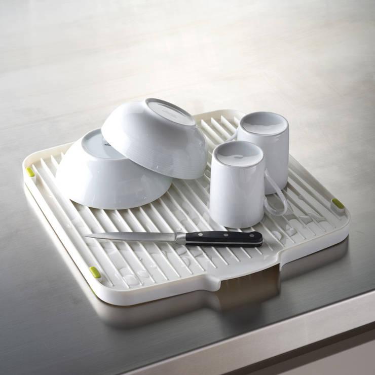Сушилка для посуды двухсторонняя со сливом Flip™ белая:  в современный. Автор – Enjoyme, Модерн Резина