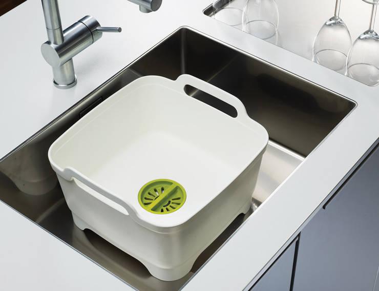 Контейнер для мытья посуды Wash&Drain™ розовый:  в современный. Автор – Enjoyme, Модерн Пластик