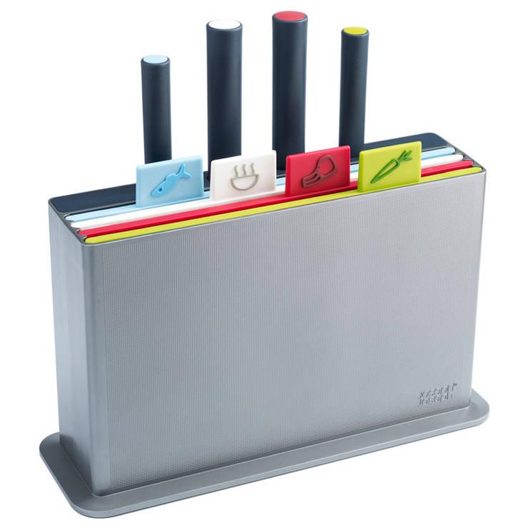 Набор разделочных досок с ножами Index™ серебристый:  в современный. Автор – Enjoyme, Модерн Пластик
