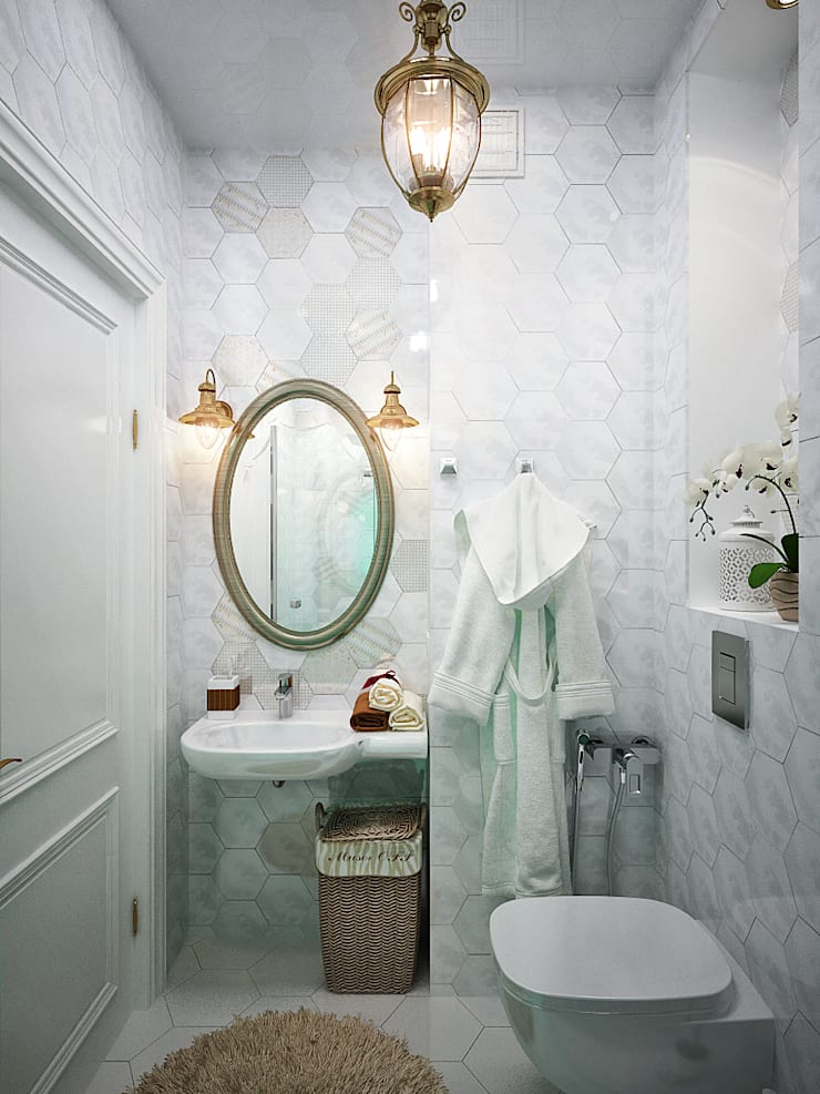 Легкость бытия: ванная комната в современном стиле: Ванные комнаты в . Автор – Студия дизайна Interior Design IDEAS,