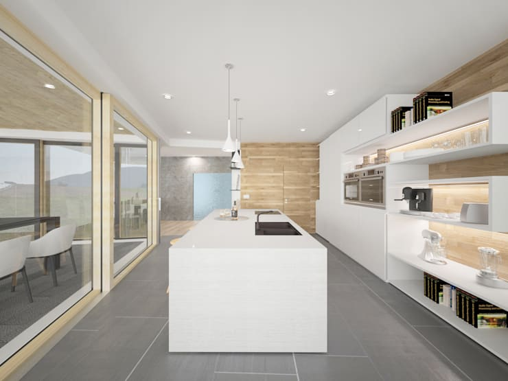 HAUS IN MAIERSDORF:  Küche von AL ARCHITEKT - Architekten in Wien