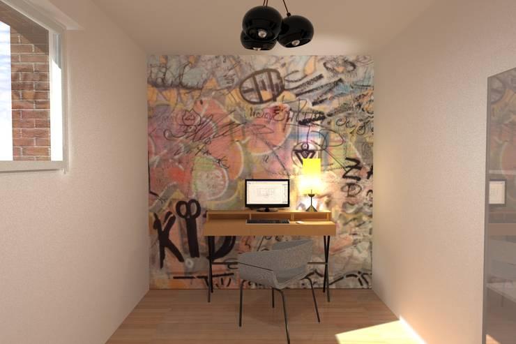 AMENAGEMENT INTERIEUR # 010 - BUREAU Version # 002: Bureau de style  par HOME LAB'