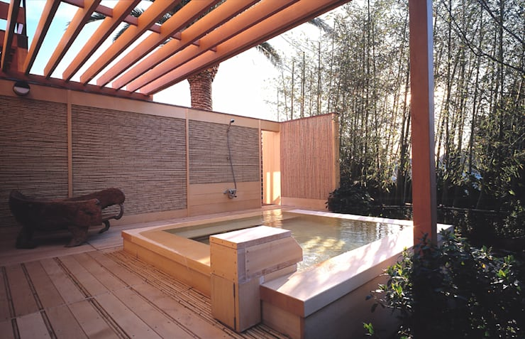 Piscinas de estilo  por 小林福村設計事務所/KOBAYASHIFUKUMURA ARCHITECTS