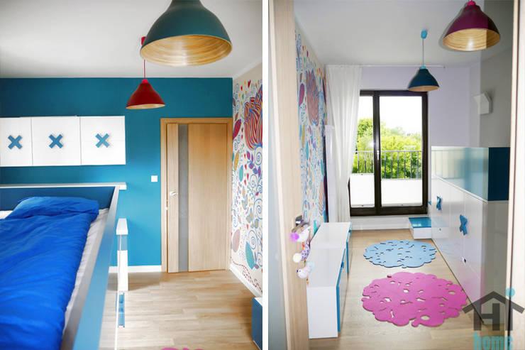 70m2 i skosy: styl , w kategorii Pokój dziecięcy zaprojektowany przez Hi home ,