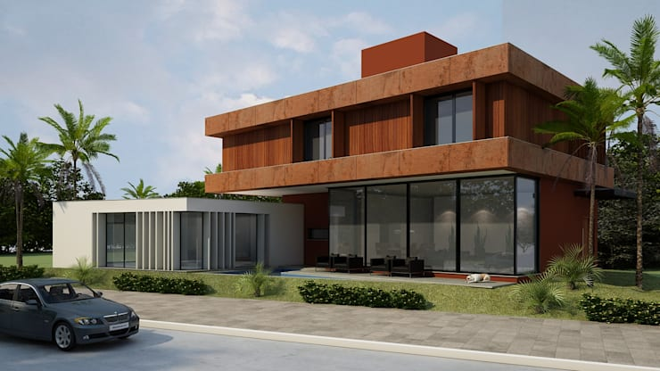 Casa MB: Casas  por Arq. Leonardo Silva