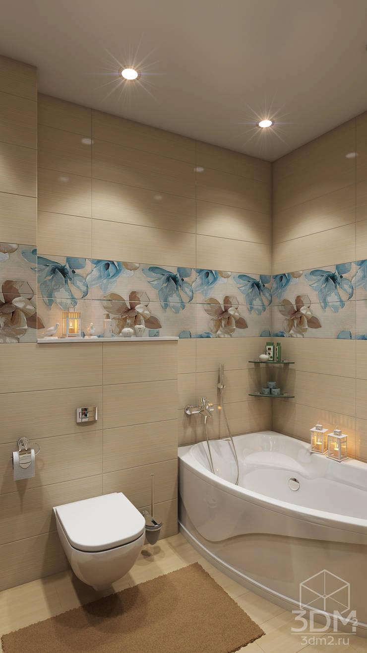 Проект 010: детская + ванная: Ванные комнаты в . Автор – студия визуализации и дизайна интерьера '3dm2'