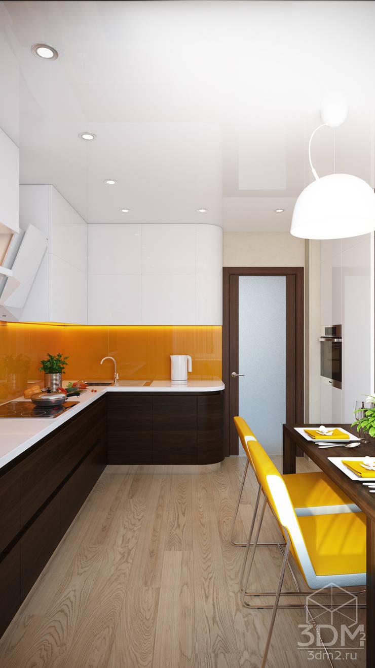 Проект 015: кухня: Кухни в . Автор – студия визуализации и дизайна интерьера '3dm2',
