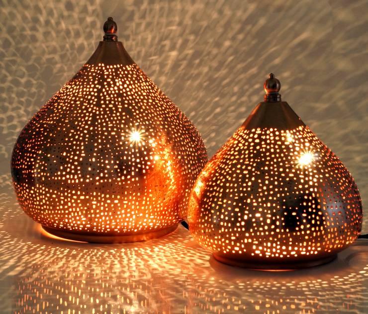 Orientalische Stehlampen in Tropfenform: ausgefallene Schlafzimmer von Guru-Shop