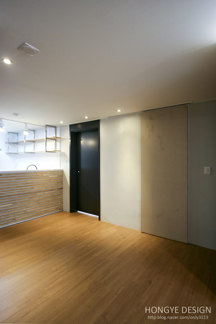인더스트리얼 느낌의 30평 아파트 인테리어: 홍예디자인의  주방,