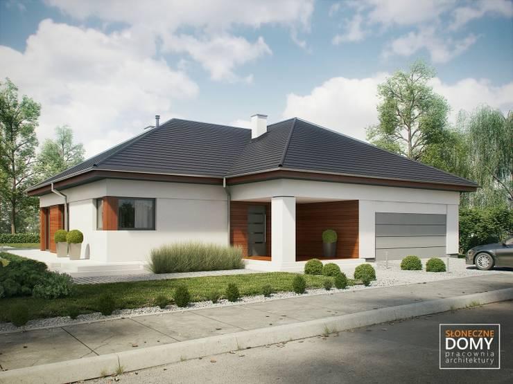 Balos A: styl , w kategorii Domy zaprojektowany przez Słoneczne Domy Pracownia Architektury,Nowoczesny