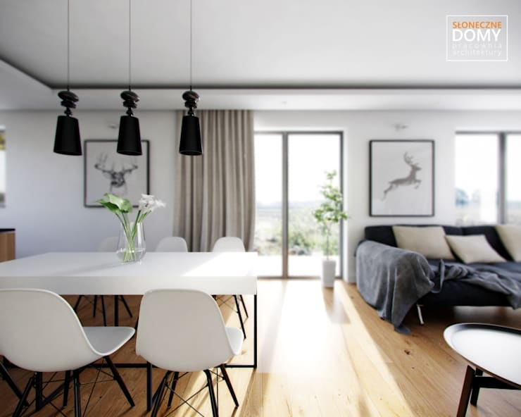 Balos A: styl , w kategorii Jadalnia zaprojektowany przez Słoneczne Domy Pracownia Architektury,Nowoczesny