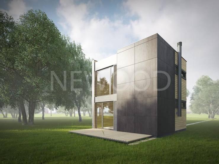 Cube: Tерраса в . Автор – NEWOOD - Современные деревянные дома