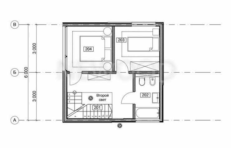 Cube:  в . Автор – NEWOOD - Современные деревянные дома