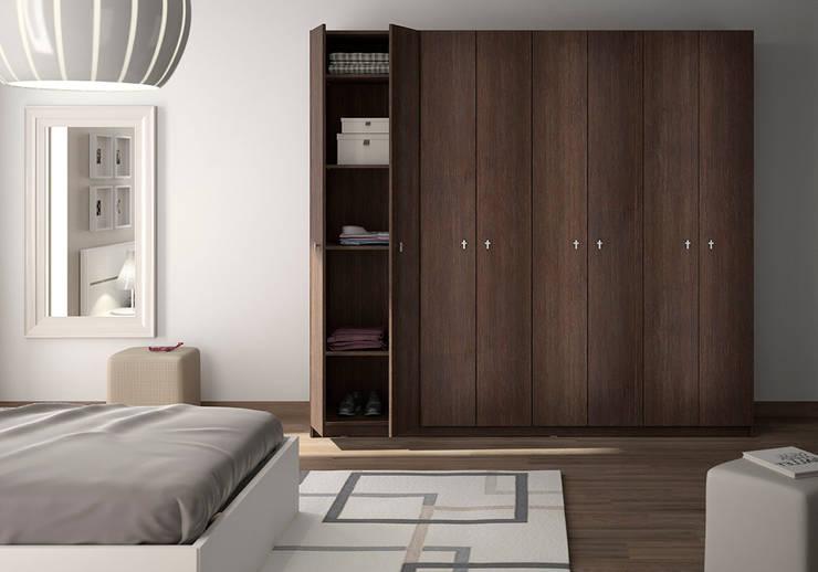 Armoire-dressing avec portes battantes: Chambre de style  par Centimetre.com