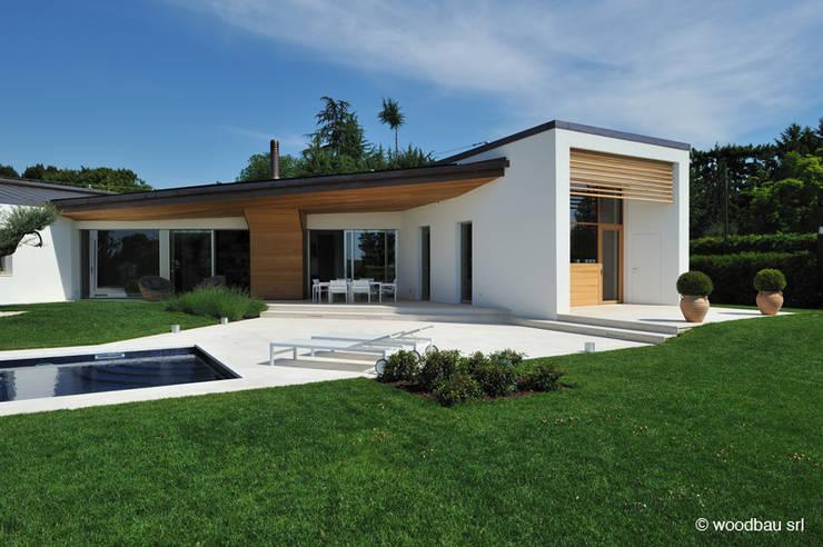 Casa moderna in legno in veneto for Villa moderna progetto