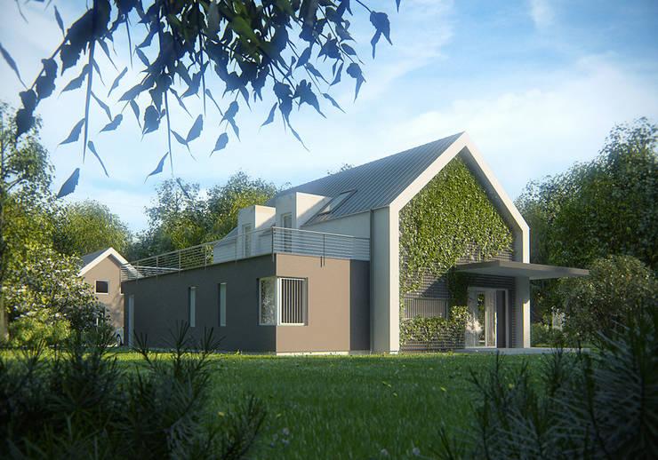 Projekty domów - House 18: styl , w kategorii Domy zaprojektowany przez Majchrzak Pracownia Projektowa