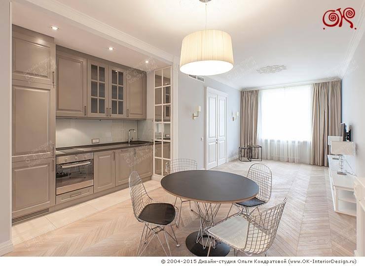Меблировка кухонной зоны кухни-гостиной: Кухни в . Автор – Дизайн студия Ольги Кондратовой