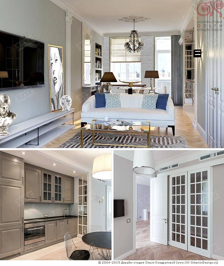 Меблировка кухонной зоны кухни-гостиной: Кухни в . Автор – Дизайн студия Ольги Кондратовой,
