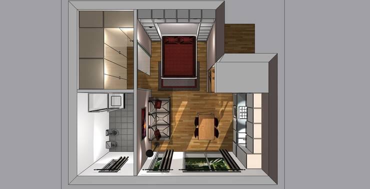 Arredare monolocale di 20 25 o 30 mq idee e soluzioni for Arredare casa in 3d gratis