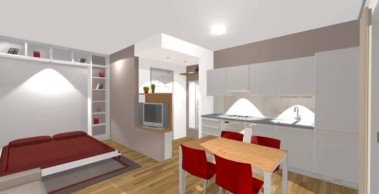 rendering lato cucina: Cucina in stile  di Bludiprussia design
