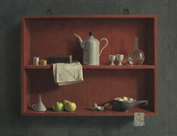 Stilleven in rode kast:   door Museum Helmantel, Klassiek