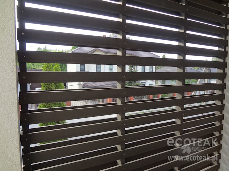 Przegroda / łamacz światła EcoTeak: styl , w kategorii  zaprojektowany przez EcoTeak Kompozyt Drewa