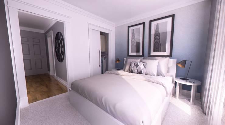APARTAMENT POKAZOWY Gdynia: styl , w kategorii Sypialnia zaprojektowany przez Just Interiors,
