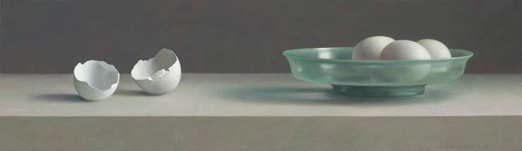 Romeins glas en eierschalen:  Kunst  door Museum Helmantel