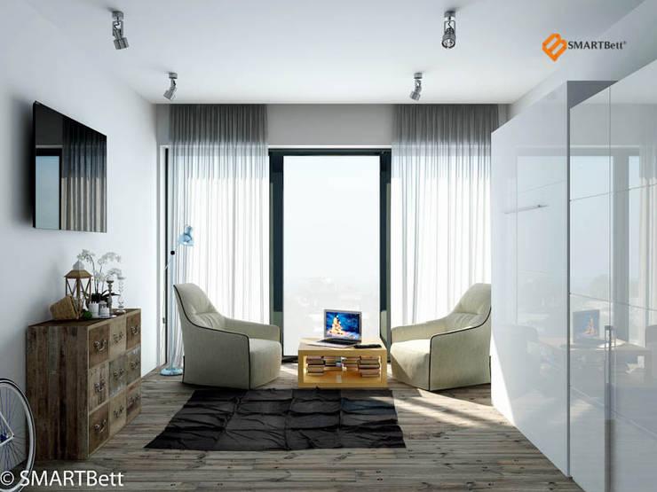 Schrankbett SMARTBett 160x200 Weiß Hochglanz von SMARTBett GmbH | homify