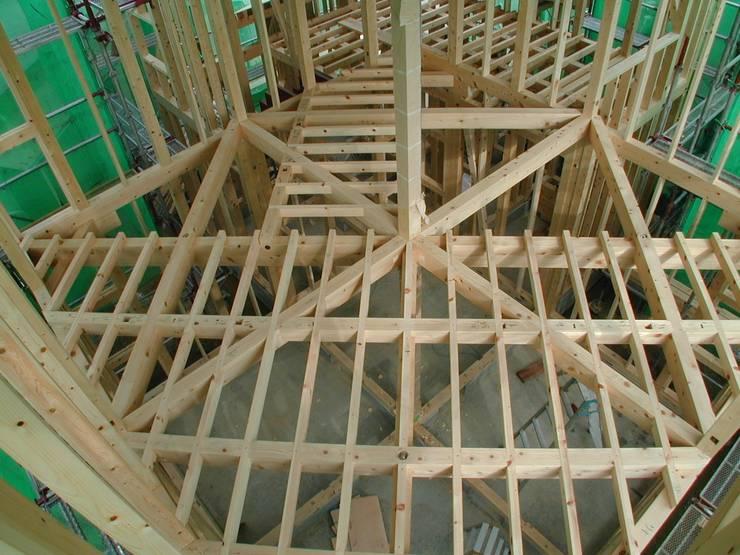 対角梁の家: 木造トラス研究所・株式会社 合掌が手掛けた家です。