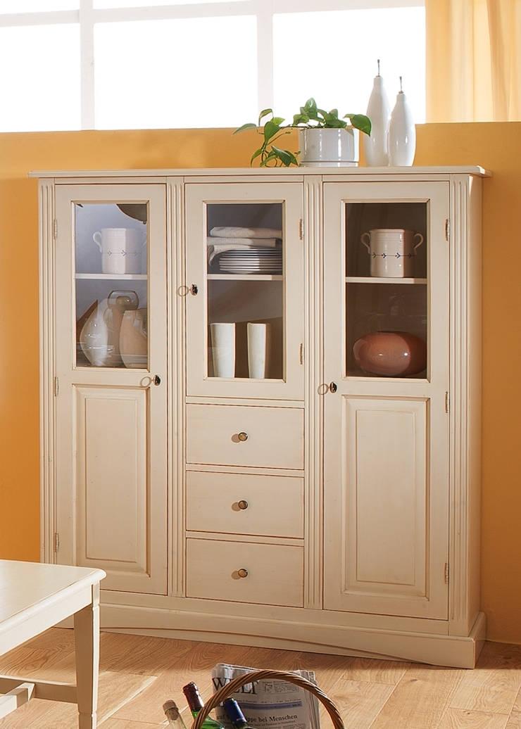 highboard landhausstil lara holz massiv fichte wei. Black Bedroom Furniture Sets. Home Design Ideas