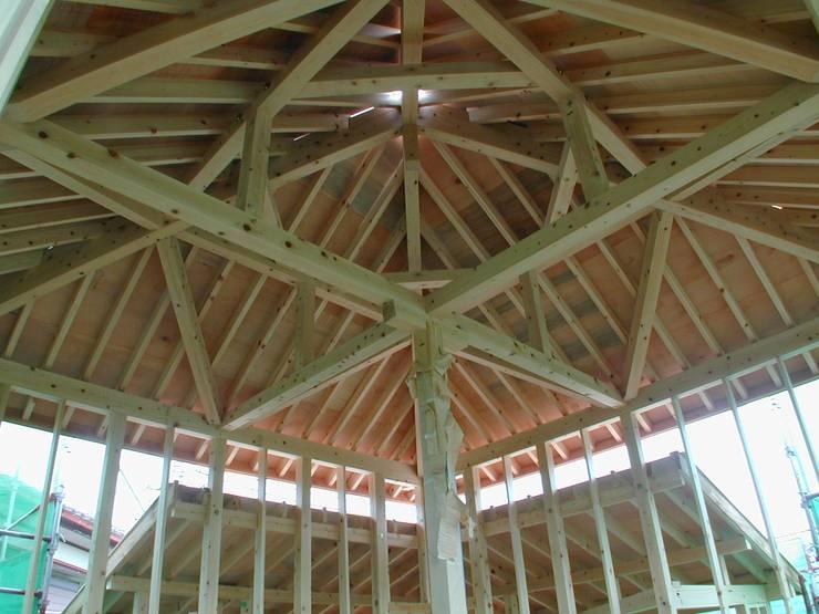 対角梁の家: 木造トラス研究所・株式会社 合掌が手掛けた家です。,