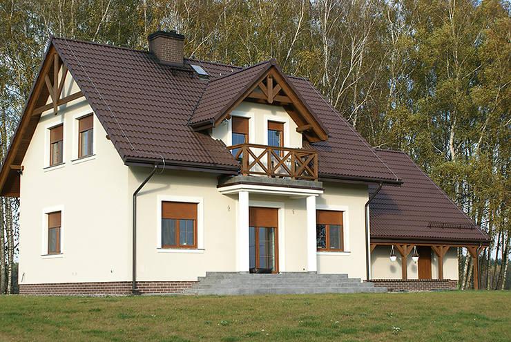 Realizacja projektu Azalia 3: styl , w kategorii Domy zaprojektowany przez Biuro Projektów MTM Styl - domywstylu.pl