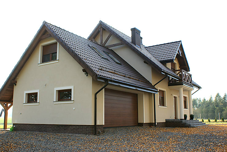 Realizacja projektu Azalia 3: styl , w kategorii Domy zaprojektowany przez Biuro Projektów MTM Styl - domywstylu.pl,Klasyczny