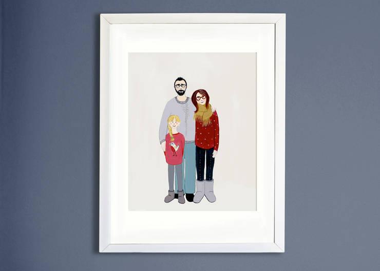 Familien Portrait individuell:   von Familie kleiner Tiere,Skandinavisch Papier