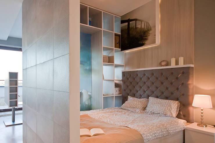 FUNKCJONALNE WNĘTRZE: styl , w kategorii Sypialnia zaprojektowany przez IDAFO projektowanie wnętrz i wykończenie