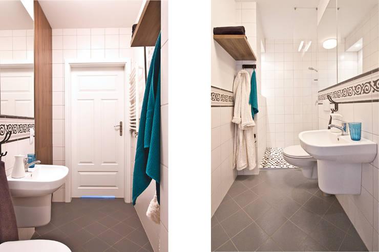 RUSTYKALNY STYL: styl , w kategorii Łazienka zaprojektowany przez IDAFO projektowanie wnętrz i wykończenie