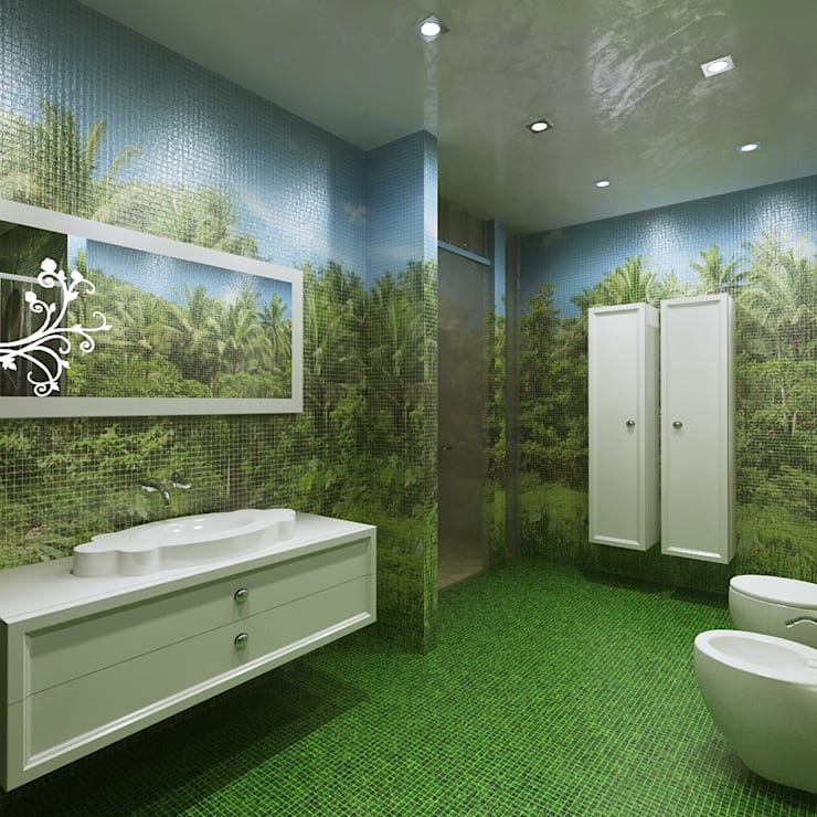Квартира в Балашихе.: Ванные комнаты в . Автор – Design studio of Stanislav Orekhov. ARCHITECTURE / INTERIOR DESIGN / VISUALIZATION.,