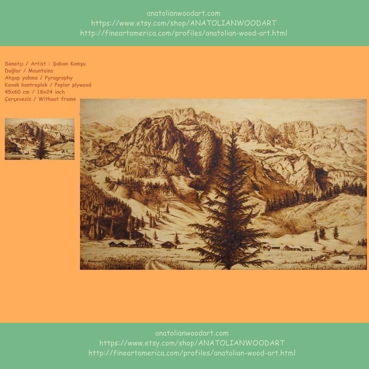 Anatolian Wood Art – Saban Komsu eserleri:  tarz İç Dekorasyon