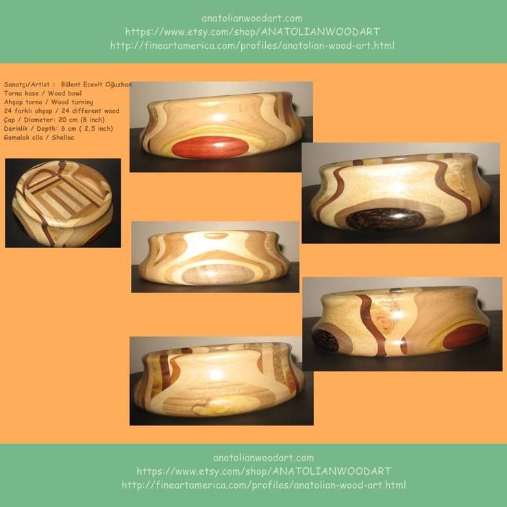 Anatolian Wood Art – Bülent Oğuzhan eserleri:  tarz İç Dekorasyon