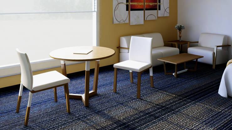 Mesa de estancia: Recámaras de estilo  por diesco