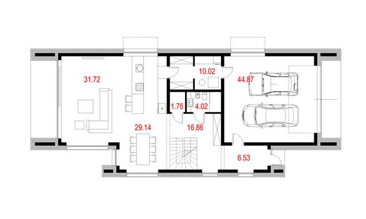 Projekty domów - House x06: styl , w kategorii  zaprojektowany przez Majchrzak Pracownia Projektowa