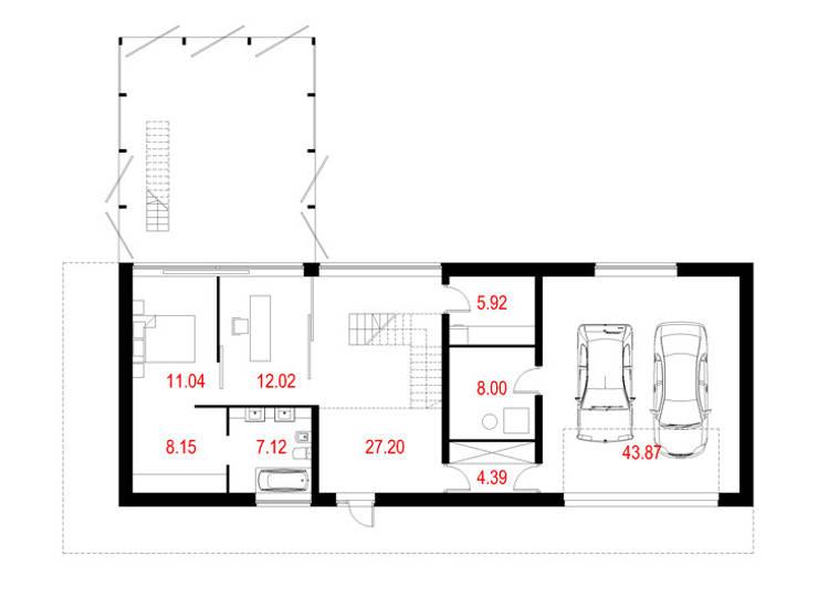 Projekty domów - House x07: styl , w kategorii  zaprojektowany przez Majchrzak Pracownia Projektowa