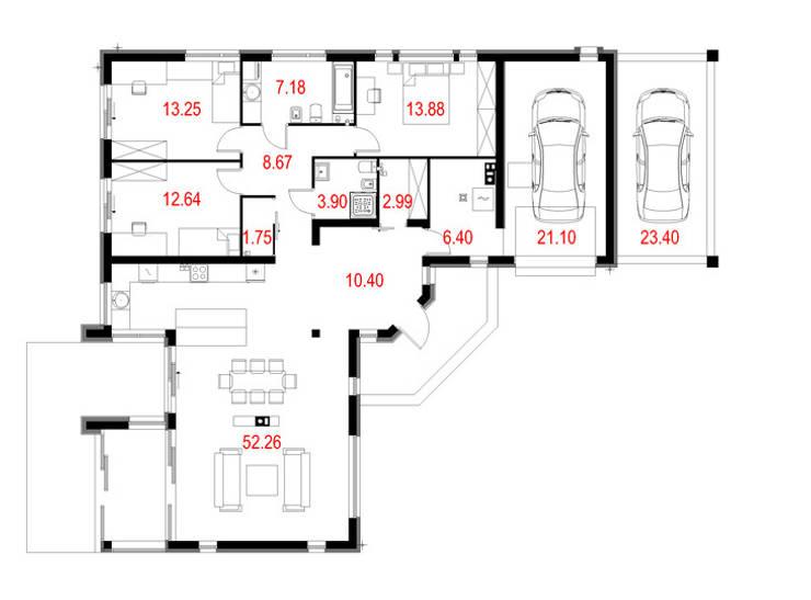 Projekty domów - House 17/17.1: styl , w kategorii  zaprojektowany przez Majchrzak Pracownia Projektowa