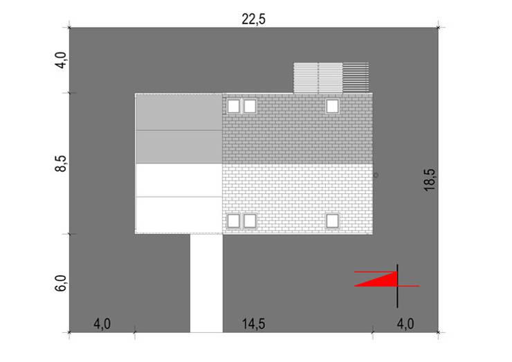 Projekty domów - House 27.1: styl , w kategorii  zaprojektowany przez Majchrzak Pracownia Projektowa,