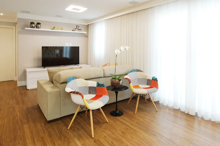 Living: Salas de estar  por Serra Vaz Arquitetura e Design de Interiores