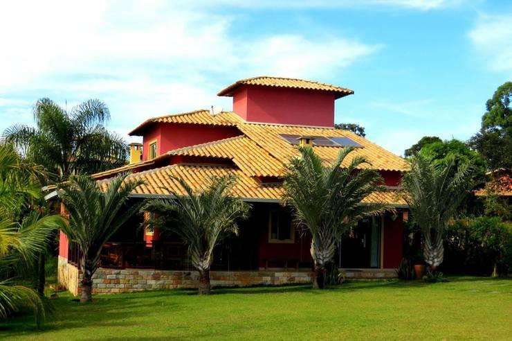 Casa Aldeias do Lago Casas campestres por Escritório de Arquitetura Sílvia Hermanny Campestre