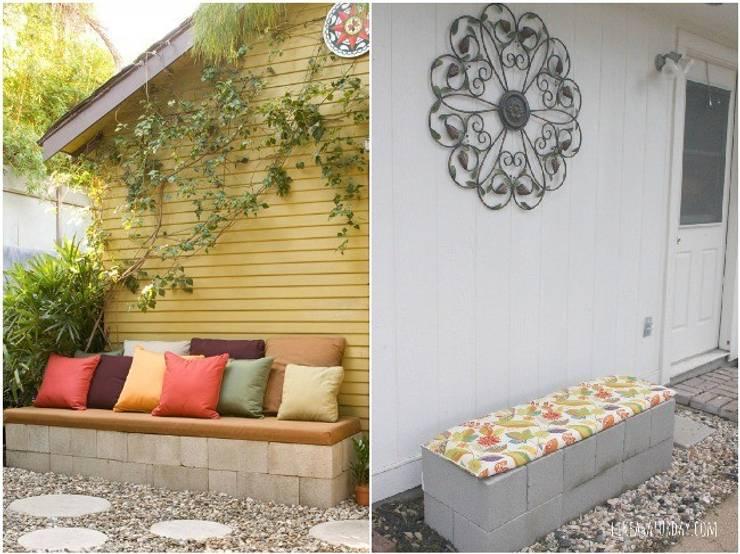 BANCAS EXTERIORES: Jardín de estilo  por ENFOQUE CONSTRUCTIVO