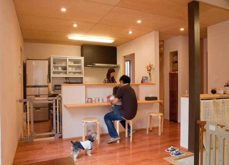 高槻の家: 株式会社 atelier waonが手掛けたキッチンです。,