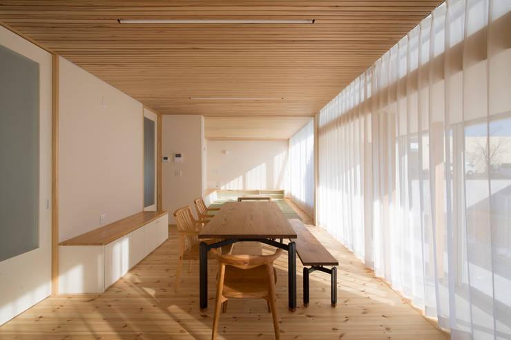 陽だまりの家: 有限会社 宮本建築アトリエが手掛けたリビングです。,